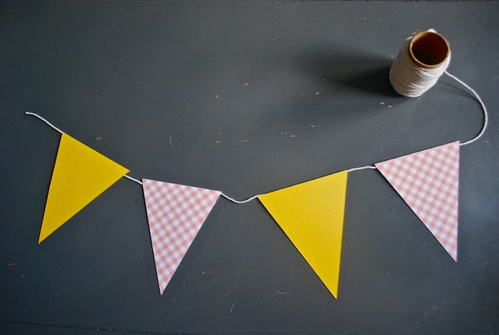 DIY Paper Pennant Banner   Handjobs (For the Home)